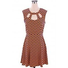 Clemson Tigers Chevron Game Day Dress, get it at TotallyCollegiate.com!