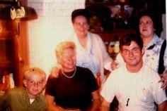 Back: Clare and Bunny Devitt, Front: Bill, Mom and Robert. Devitt Dining Room, Ashland, Pa