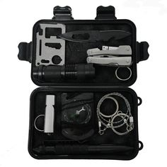 Cheap equipment, Buy Quality equipment box directly from China equipment bag Suppliers: 10 in 1 Outdoor survival emergency bag field SOS survival kit box self-help box SOS equipment for Camping Hiking drop shipping Camping Tools, Camping Supplies, Camping And Hiking, Camping Survival, Outdoor Survival, Tent Camping, Survival Skills, Camping Gear, Outdoor Camping