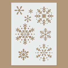 Snowflake Stencil by StencilDirect on Etsy