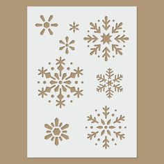 Snowflake Stencil by StencilDirect on Etsy