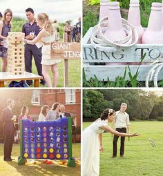 Outdoor wedding games: Photograph the guests playing Wedding 2015, Diy Wedding, Dream Wedding, Wedding Day, Purple Wedding, Wedding Things, Rustic Wedding, Wedding Stuff, Wedding Photos
