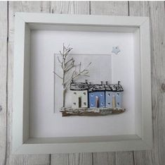 ****SOLD***NOW SOLD ** THANK YOU****** . and then there's Winter although perhaps it should be of a rainy scene rather than a snowy one! Beach Crafts, Diy And Crafts, Arts And Crafts, Driftwood Sculpture, Driftwood Art, Craft Projects, Projects To Try, Driftwood Projects, Pebble Pictures