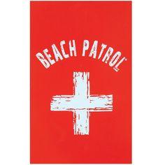 Beach Patrol Velour Beach Towel