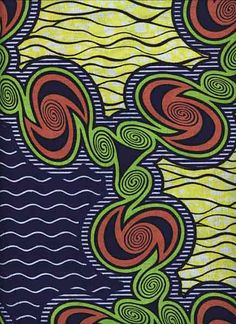 African wax print cotton