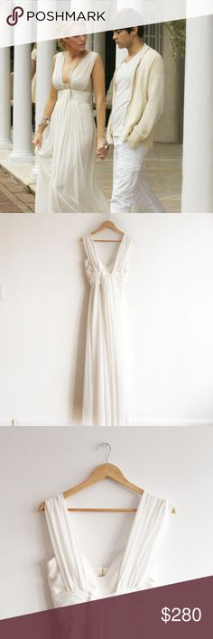 FLASH SALE - Blake Lively White Party Dress This chiffon dress was created to look like Blake Lively / Serena van der Woodsen's dress to the white party. It is brand new and in perfect condition. No trades please. Dresses Maxi