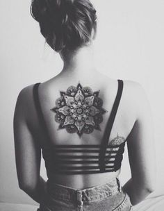 Mandala Back Tattoo for Girl - 40 Intricate Mandala Tattoo Designs  <3 <3