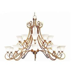 2nd Ave Design Angelo 20 Light Shaded Chandelier Finish: Pompeii Gold Premium