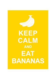 Keep Calm and Eat Bananas : Kitchen Art Wedding Birthday Anniversary Gift Children Decor Kids Room Home Decor - BUY 2 Get 1 Free