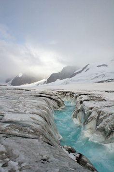 Alaskan Glacier in summer