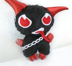 Plush Krampus Christmas Holiday Decoration - eeeee!