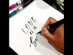 Brush Lettering with Pentel Art Brush by My Baby Olive Juice