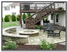 Wood Back Yard Deck Ideas 33 Patio Design Under Deck ...