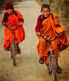 mintchutney:  Young monks in Lumbini, Nepal (by Beaches Marley)