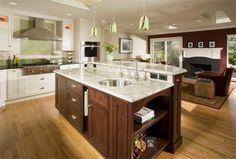 Kitchen Island Ceramic Floor Fireplace Design Desk American Woodmark Kitchen
