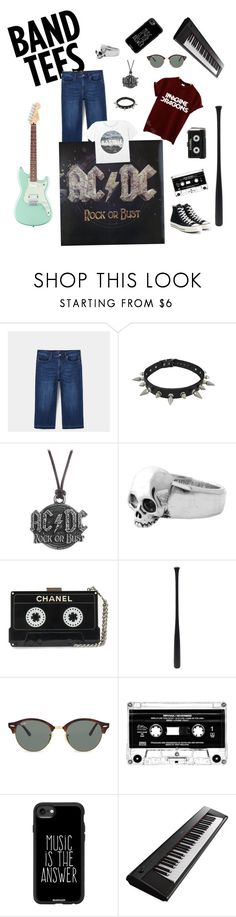 """Music man 🎶"" by turtlefoot ❤ liked on Polyvore featuring Violeta by Mango, AC/DC, King Baby Studio, Elisabeth Weinstock, Ray-Ban, Casetify, Yamaha and Converse"
