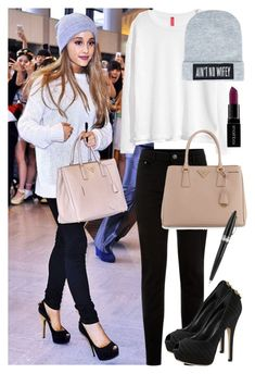 Steal Her Style: Ariana Grande! by itsfashion-5ever on Polyvore featuring polyvore fashion style H&M New Look Prada Dimepiece Smashbox Pineider clothing