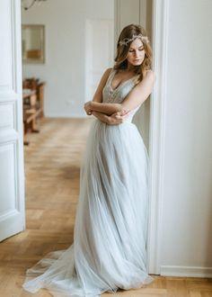 Cool Chic Style Fashion : Leggero e fluttuante abito da sposa in...