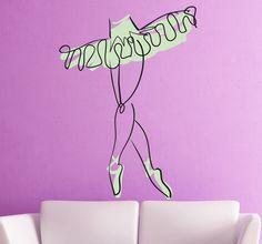 Artistic illustration of a ballerina. #Dance #Ballet #Ballerina #WallStickers #Decals