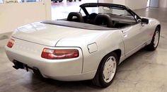 Porsche 928 Cabriolet prototype in museum's storage