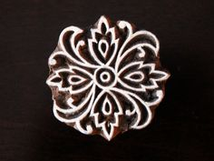 Hand Carved Indian Wood Stamp Textile Stamp by charancreations