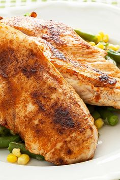 Recipe including course(s): Entrée; and ingredients: black pepper, butter, cayenne pepper, chicken breast halves, chicken broth, dried parsley, garlic powder, lime juice, olive oil, onion powder, paprika, sea salt, thyme