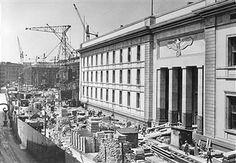 Berlin 1938 Neue Reichskanzlei in der Voss-Strasse,Blickrichtung Hermann-Goering-Strasse (Ebertstrasse)
