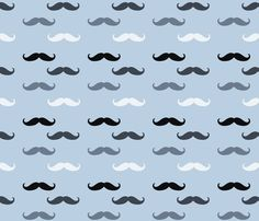 Blue Mustaches custom fabric by peacefuldreams for sale on Spoonflower Mustache Wallpaper, Moldes Para Baby Shower, Moustache Party, Royal Icing Transfers, Happy Birthday Template, Man Shower, Pirate Crafts, Glitter Images, Father's Day Diy