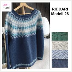 Crochet Wool, Hand Knitting, Knitting Ideas, Knitwear, Pullover, Sweatshirts, Sweaters, Pattern, Knits
