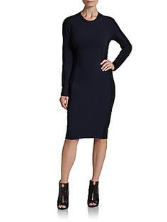 Long-Sleeve Shadow Dress