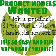 Looking for some product models! U can even change the product each month and the day it goes out! We even have things below $30! And u get free stuff!! C'mon now this is a no brainer! Head to my site click shop and at the end click the green button and fill out your info. Its that easy! Www.byefelicia.itworks.com Pm me if you have any questions I will be happy to answer them!