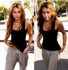 To be skinny like Miley, with her long hair, not her current 'do