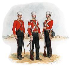 31st REGIMENT OF FOOT (HUNTINGDONSHIRE) OFICIAL DE COMPAÑIA DE LINEA, SARGENTO DE LA COMPAÑIA LIGERA y SOLDADO DE COMPAÑIA DE LINEA - 1846. Más en www.elgrancapitan.org/foro