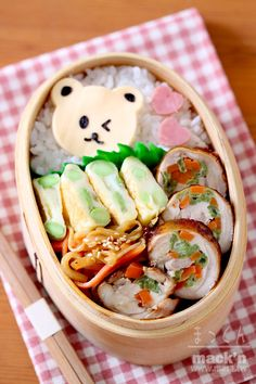Japanese style lunch box. Prefect for school kids!! Yummy and healthy!!