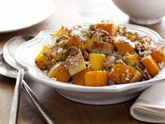 Butternut Squash with Pecans and Blue Cheese from FoodNetwork.com