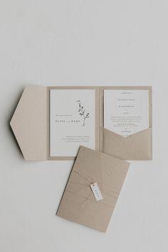 "Pocket Fold Einladung ""Greta"" — Traumanufaktur | Letterpress Studio, Hochzeitspapeterie & Hochzeitsfotograf Romantic Wedding Stationery, Simple Wedding Invitations, Invitation Card Design, Wedding Invitation Design, Pocketfold Invitations, Invites, Envelopes, Wedding Cards, Etsy"