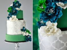 Green, white & turquoise wedding. I never thought to put these colors together :)