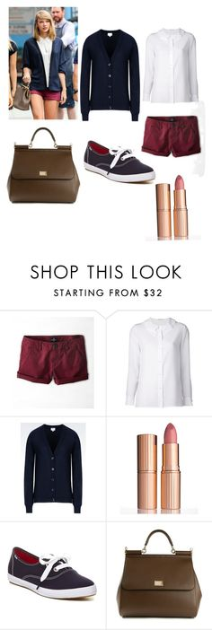 """""""Tay Tay Tuesday #5?!"""" by cupcakegirlxo ❤ liked on Polyvore featuring American Eagle Outfitters, Yves Saint Laurent, Armani Collezioni, Charlotte Tilbury, Keds and Dolce&Gabbana"""