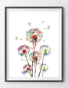 Dandelion 3 watercolor print