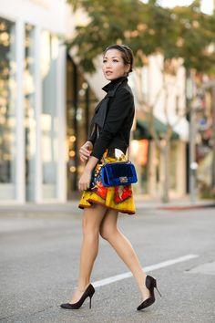 Velvet Painting :: Renaissance printed skirt