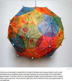 Modge Podge ball made with chinese umbrellas