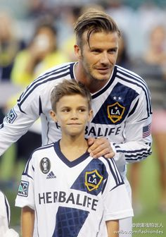 David Beckham & Romeo Beckham