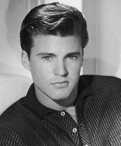 Ricky Nelson--had a huge crush on him! Who didn't? Sad that he died so young, in a plane crash.