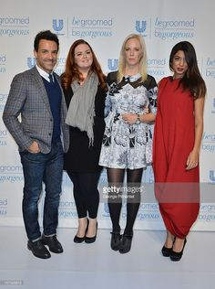 Stylist George Kotsiopoulos, Kristin Ess and Amy Nadine of The Beauty Department, and television host Aliya-Jasmine Sovani were in Toronto for the Unilever Canada 'Be Groomed, Be Gorgeous' event at Andrew Richards Design Store on November 27, 2012 in Toronto, Canada. The exclusive media event showcased upcoming innovations in beauty and grooming for 2013.