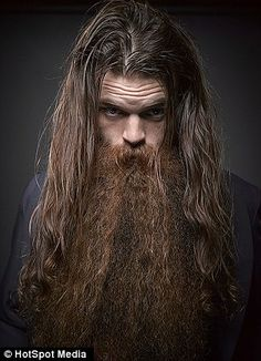 Hairy: This competitor has combined long hair with a serious beard