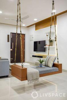 Living Room Partition Design, Living Room Tv Unit Designs, Room Partition Designs, Ceiling Design Living Room, Home Room Design, Home Interior Design, Ceiling Design For Home, Ceiling Decor, Wooden Ceiling Design