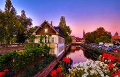 Dusk, Strasbourg, France