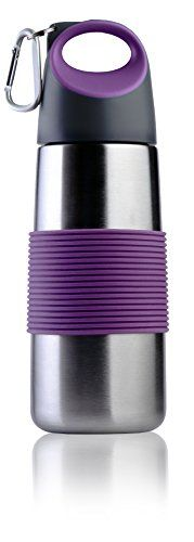 LeOx- Trinkflasche Edelstahl Thermobecher to go 0,5L Reisebecher mit Tragegriff Reiseflasche für warme und kalte Getränke - Lila - http://geschirrkaufen.online/leox/lila-leox-trinkflasche-500-ml-edelstahl-0-5l-mit