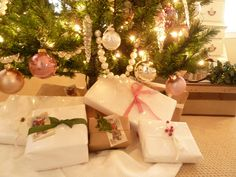 Lovely gifts wrapped the shabby chic way via Kate's Place