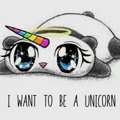 Inspiring image cute drawings panda rainbow sweet unicorn panda co Real Unicorn, Rainbow Unicorn, Unicorn Pics, Unicorn Memes, Unicorn Pictures, Animals And Pets, Funny Animals, Cute Animals, Unicorns And Mermaids